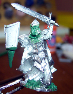 dragonborn pewter miniature greenstuff